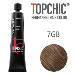 Goldwell Topchic 7GB - Стойкая краска для волос - Блондин золотисто-бежевый (Песочный русый) 60 мл.