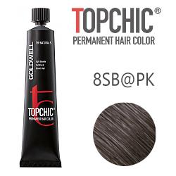 Goldwell Topchic Eluminated 8SB@PK - Стойкая краска для волос Серебристый блонд с розовым сиянием 60 мл