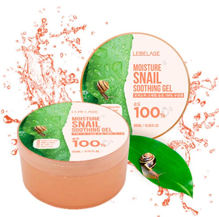 Увлажняющий успокаивающий гель с муцином улитки LEBELAGE Moisture Snail Purity 100% Soothing Gel (Korea original) (71300)