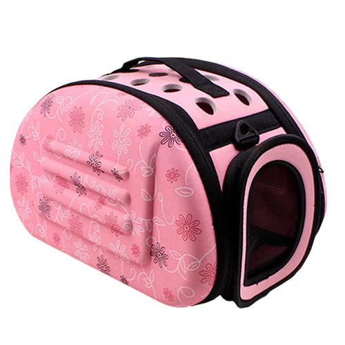 Складная сумка-переноска для животных до 6 кг. Цвет: розовый.