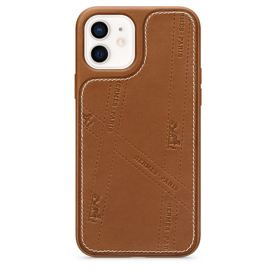 Чехол Hermès Bolduc Leather Case with MagSafe for iPhone 12