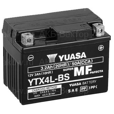 YUASA AGM YTX4L-BS (4Ач) 50А (AGM) не активирован