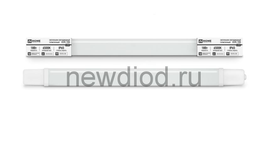 Светильник светодиодный герметичный ССП-155 18Вт 230В 6500К 1500Лм 600мм IP65 IN HOME