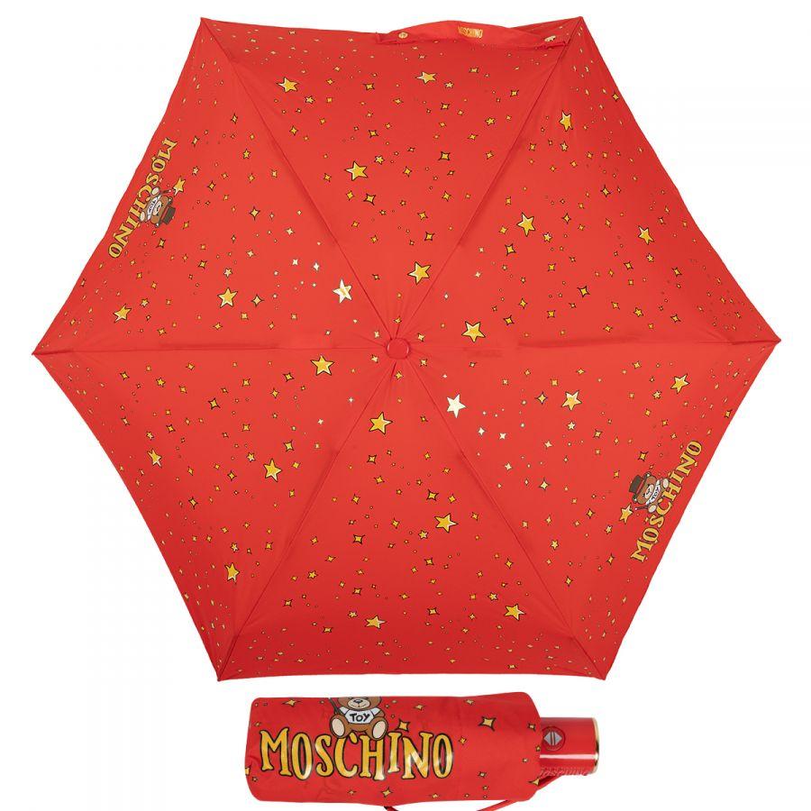 Зонт складной Moschino 8323-compactC Toy Constellation Red