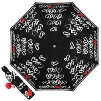 Зонт складной Moschino 7923-OCA Hearts Black