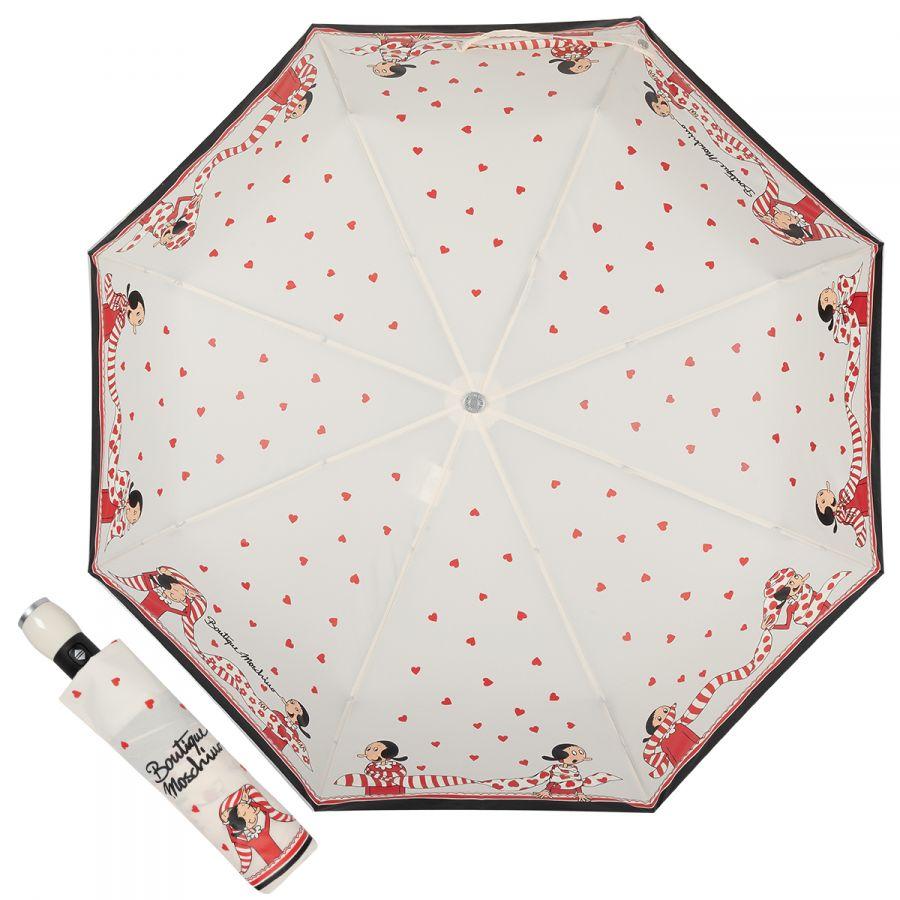 Зонт складной Moschino 7961-OCI Olivia Scarves Cream