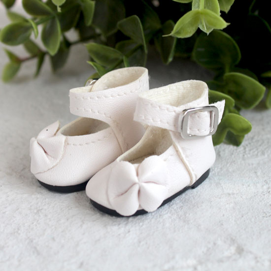 Обувь для кукол - Сандалии высокие с бантиком белые, 4 см.