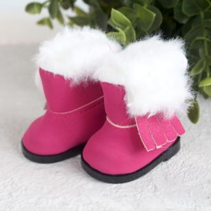 Обувь для кукол - Сапожки угги розовые на замочке, 5,5 см.