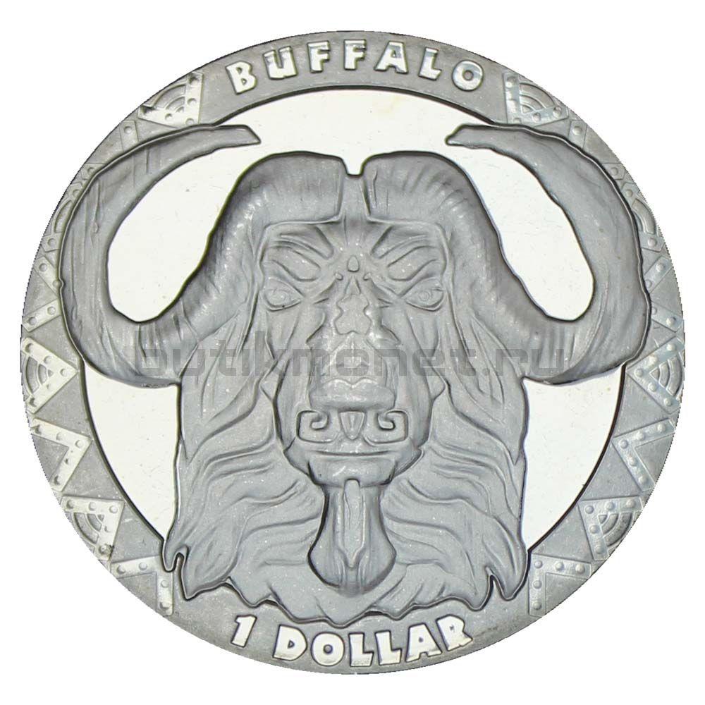 1 доллар 2019 Сьерра-Леоне Буйвол (Большая пятерка)
