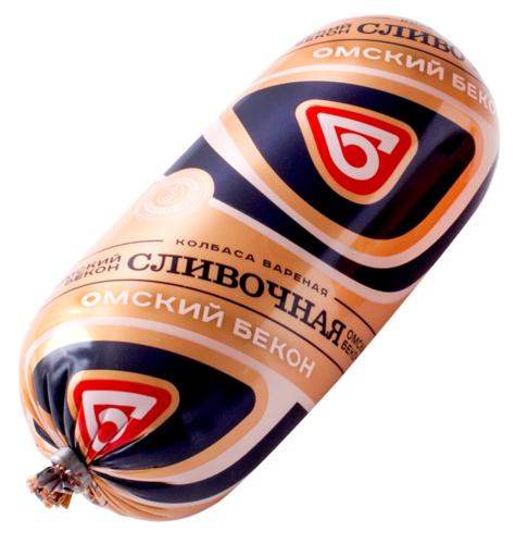 Колбаса Сливочная вар 500г Омский Бекон
