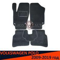 Ворсовые коврики на VOLKSWAGEN POLO (2009-2019г)