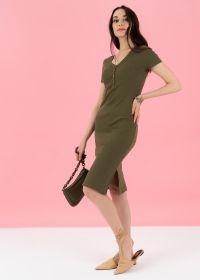 """Платье """"Алиса"""" для беременных и кормящих; хаки"""