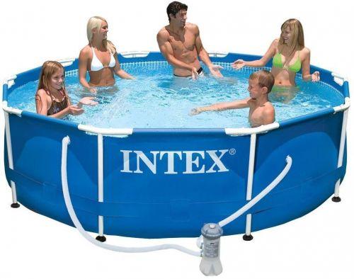 Бассейн каркасный Intex Metal Frame Pool 305x76 см с фильтр насосом 28202