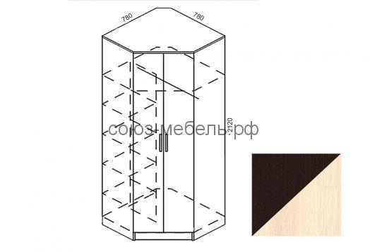 Прихожая Ника (вешалка ВП+ шкаф с зеркалом ШК-Z+шкаф угловой Ш-УГ+шкаф ШК+угол заверш. УГ)
