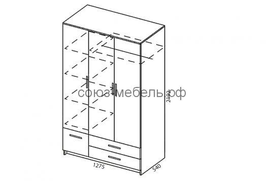 Прихожая Престиж (шкаф 3-х+зеркало (3 шт.)+угол (2 шт.))