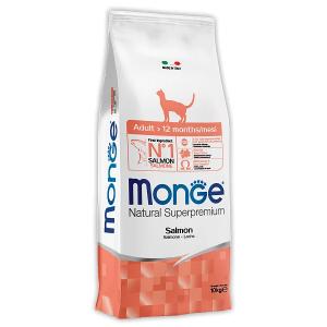 Сухой корм для кошек Monge Natural Superpremium с лососем 10 кг