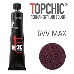 Goldwell Topchic 6VV MAX - Стойкая краска для волос - Темная черешня 60 мл.