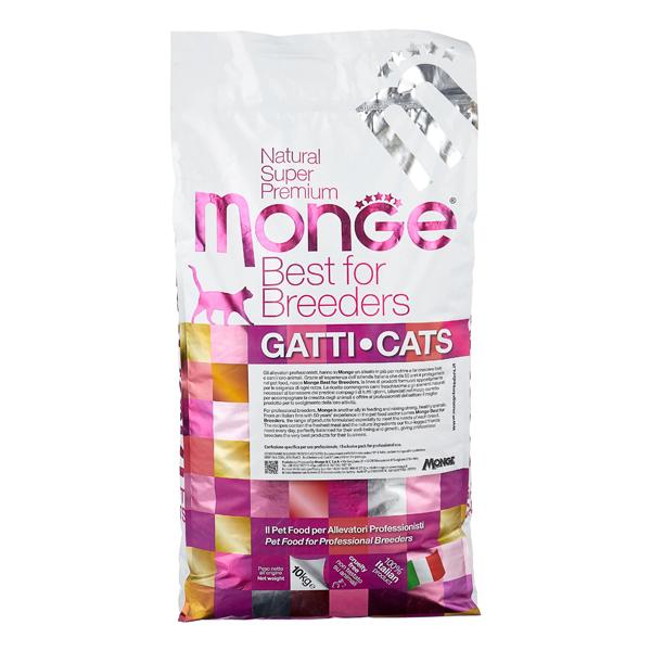Сухой корм для кошек Monge Natural Superpremium Indoor для живущих в помещении с курицей 10 кг