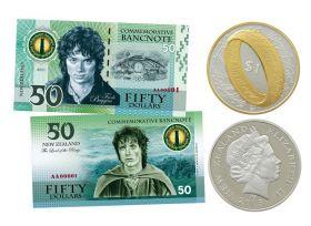 Кольцо ВСЕВЛАСТИЯ + 50 долларов NZ. Набор Монета + Банкнота