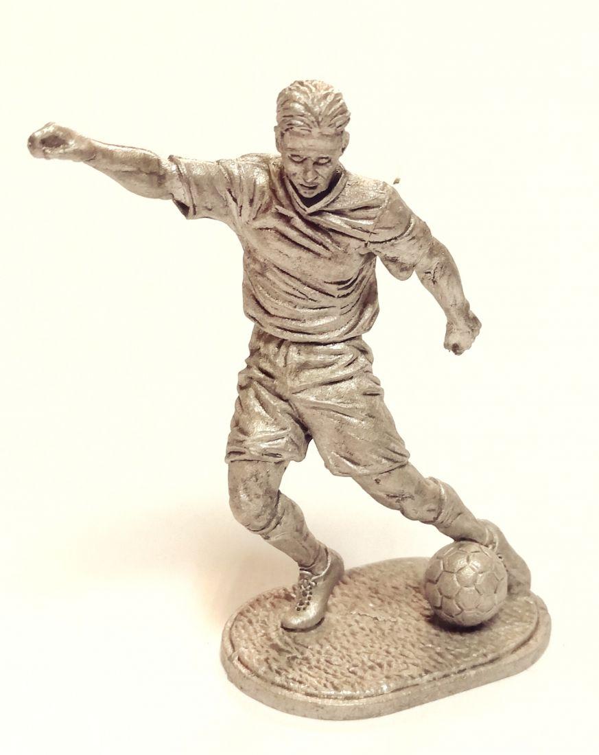 Фигурка Футболист Нападающий олово