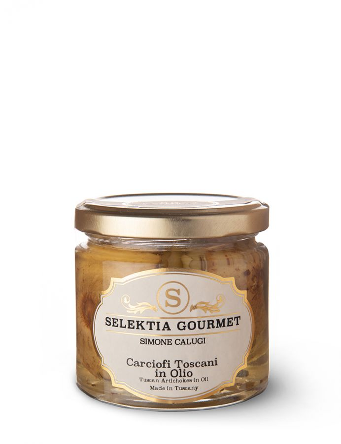 Артишоки тосканские в масле 180 г. Carciofi toscani in olio, Selektia Tartufi 180 g