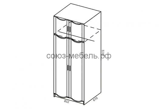 Детская Мозаика (пенал ПУ+стол СТ-1,5+шкаф навесной ШН-1,5+пенал ПН+шкаф ШУ)