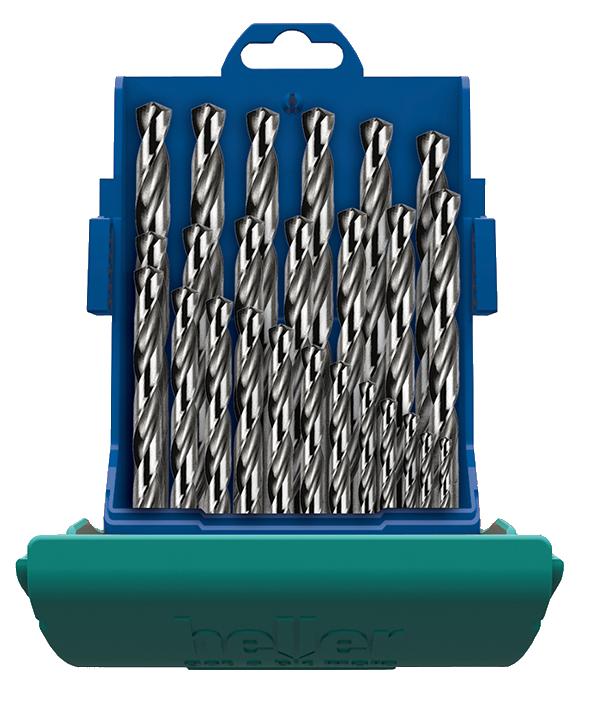 Набор сверл по металлу Heller НSS-G Super DIN 338 RN  1/1.5/2/2.5…12/12.5/13 (25 пр.)
