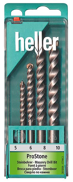 Набор свёрл Heller по камню Prostone 5,6,8,10 мм (4 пр.)