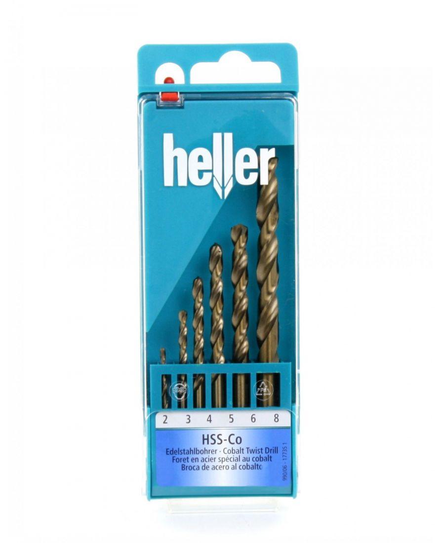 Набор свёрл по металлу Heller HSS-Co DIN 338 RN 2/3/4/5/6/8мм (6 пр.)