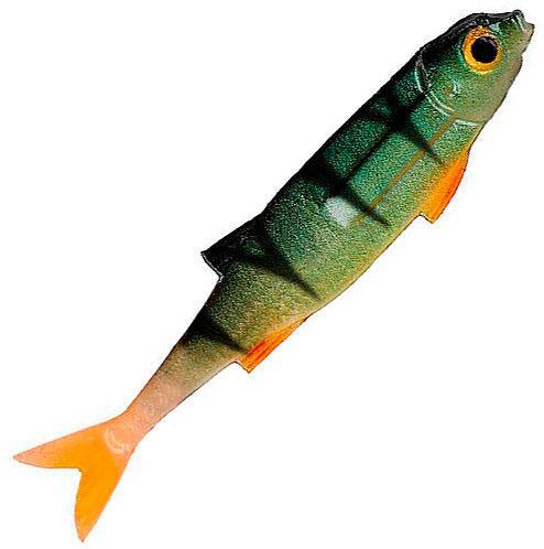 Виброхвост Mikado FLAT FISH / PERCH окунь  PMFL ароматизатор креветка