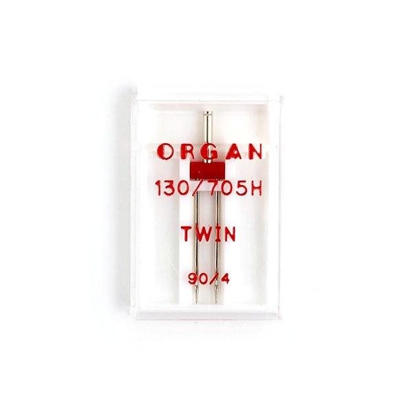 Иглы машинные ORGAN двойные 130/705H № 90/4 1 штука в упаковке (ORGAN90/4.1)