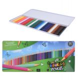 Цветные карандаши artista в жестяной коробке 50 шт