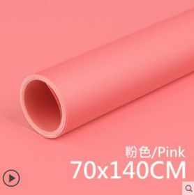 Фон пластиковый ПВХ 70х140 для предметной съемки розовый