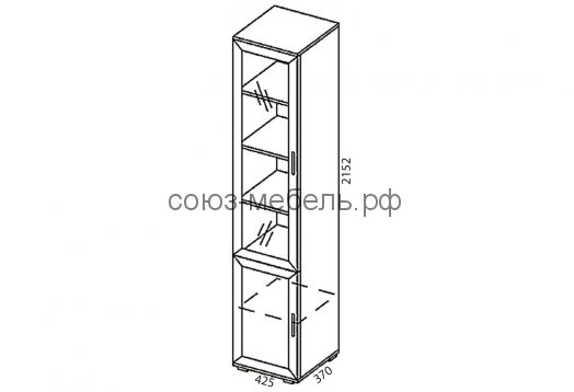 Офисная мебель Триумф (пенал ПП+пенал ПО+пенал ПС+тумба ТН+тумба ТН+тумба ТБ+шкаф стеклянный ШС+стол СП-0,7x0,45+стол СТ-УГ-1,6x1,0+стол СП-0,5x0,7+стол СП-0,5x0,7+стол СЯ)