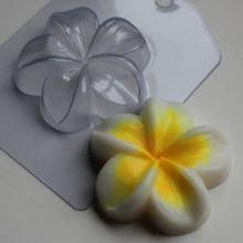 Пластиковая форма для мыла и шоколада Плюмерия