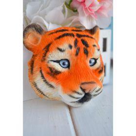 Силиконовая форма для мыла «Морда тигра» 2D