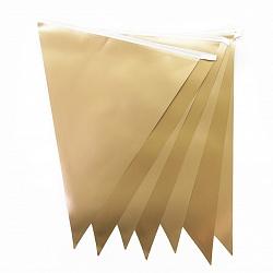 Гирлянда Флажки, Золото, 28*300 см, 1 шт.