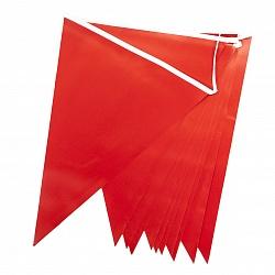Гирлянда Флажки, Красный, 28*300 см, 1 шт