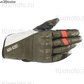 Перчатки Alpinestars AS-DSL Kei, Зелено-бело-черные
