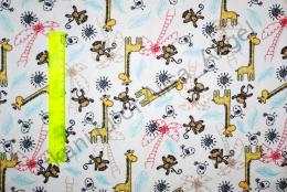 Жираф в Африке интерлок отрез 0,55м (ширина 150м)
