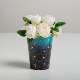 Стаканчик для цветов «Звезды», 11 х 8,5 см