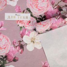 Бумага упаковочная крафтовая «Цветы для тебя», 50 × 70 см упак 10 листов