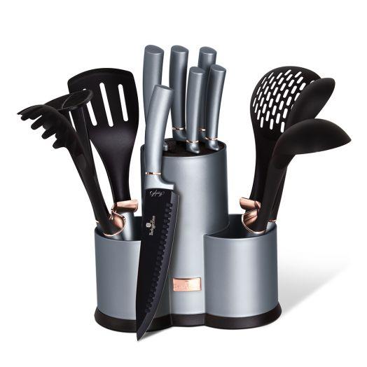BH-6251A Набор ножей и кухонных аксессуаров на подставке 12 пр.