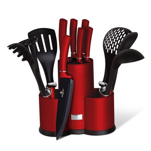 BH-6248A Набор ножей и кухонных аксессуаров на подставке 12 пр.
