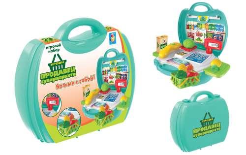"""Игровой набор в чемоданчике Профи """"Продавец Супермаркета"""""""