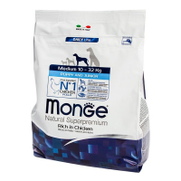 Сухой корм для щенков средних пород Monge Daily Line Puppy and Junior Medium с курицей 3 кг