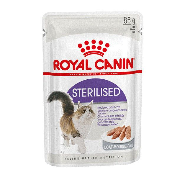 Консервы Royal Сanin Sterilised для стерилизованных кошек паштет 85гр