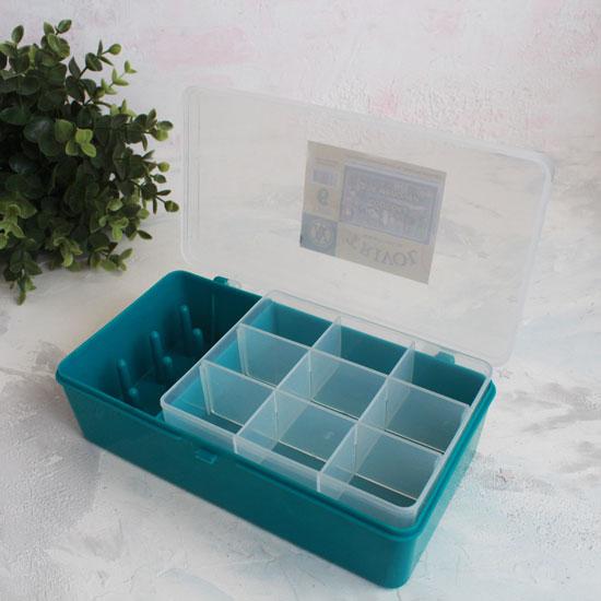 Контейнер-органайзер для хранения фурнитуры, 21 х 11 х 6,5 см.