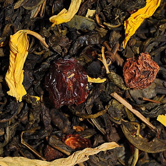 Шиповник - зеленый чай с натуральными природными добавками