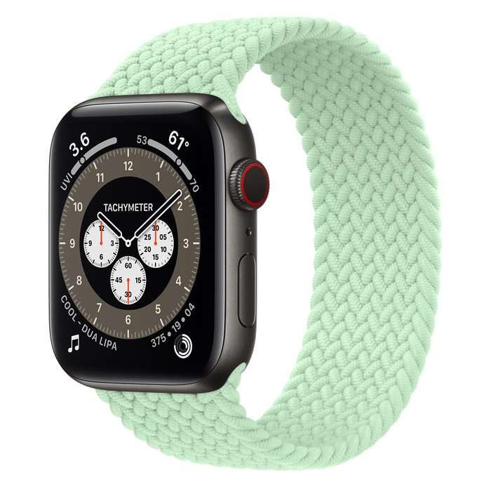 Часы Apple Watch Edition Series 6 GPS + Cellular 44mm Space Black Titanium Case with Pistachio Braided Solo Loop